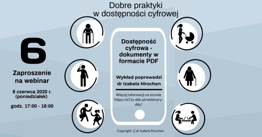 Infografika Zaproszenie na DDC 6 Webinar