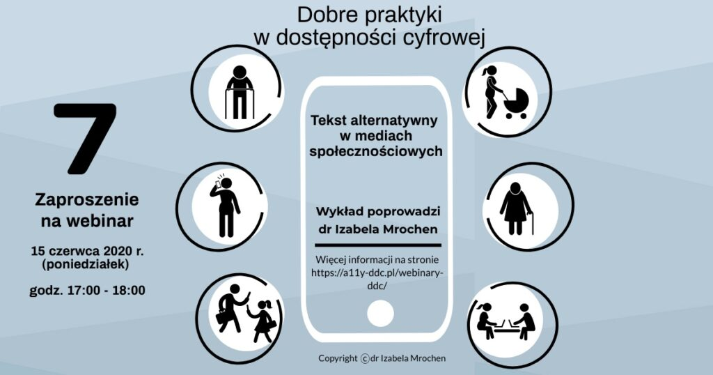 Infografika Zaproszenie na 7 webinar DDC