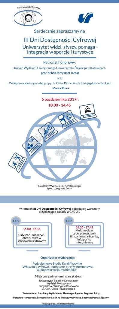 Zaproszenie na Dni Dostępności Cyfrowej z 2017 roku