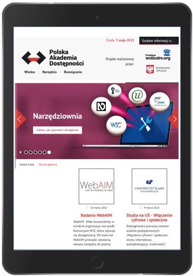 Podstrona Polskiej Akademii Dostępności